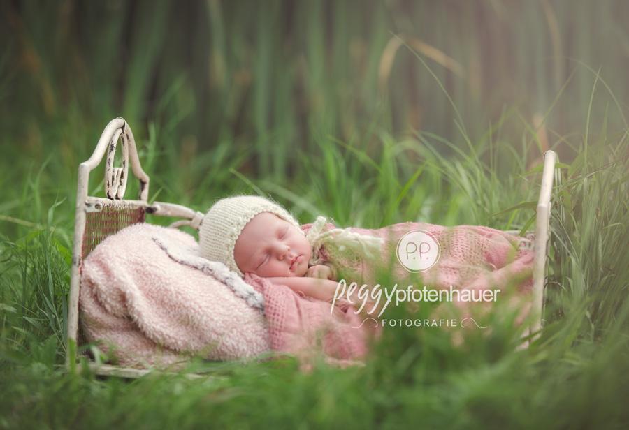 Babyfotos draußen, Babyfotografie im Freien, Neugeborenenfotos in der Natur