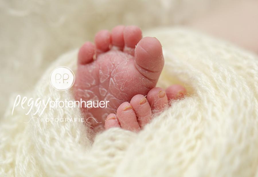 Babyfotos mit Liebe, zarte Neugeborenenfotos, niedliche Babybilder