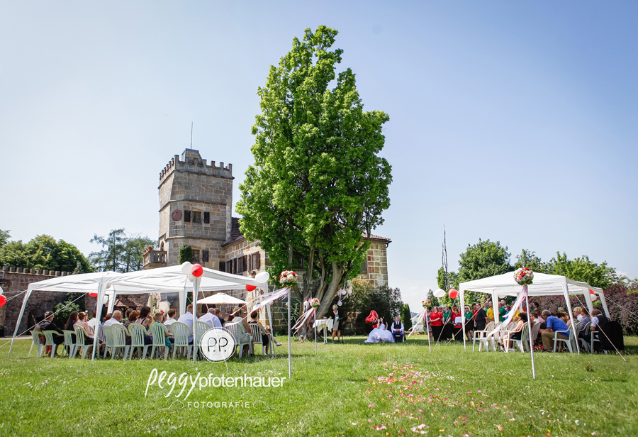 Hochzeit im Freien, freie Trauung Oberfranken
