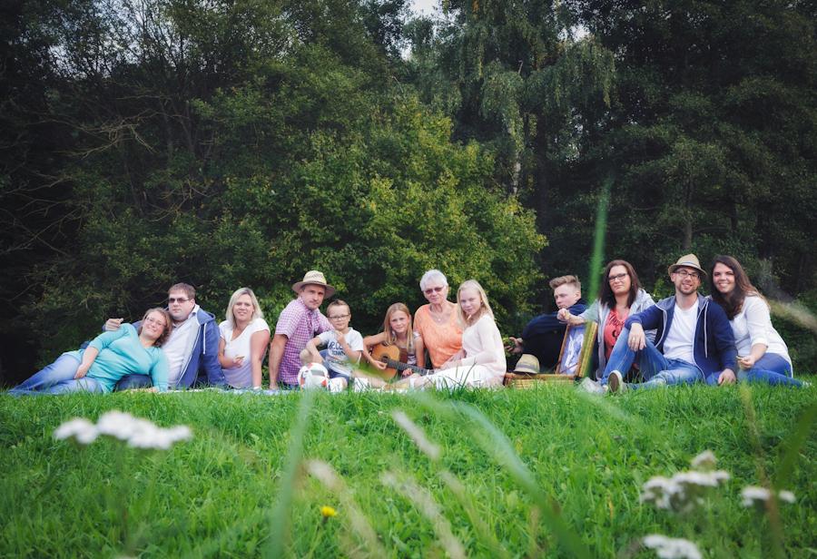 Großfamilienfoto Oberfranken