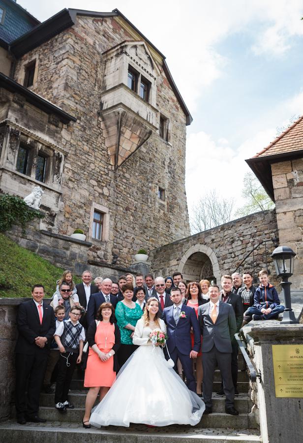 Gruppenfoto Hochzeit Peggy Pfotenhauer Fotografie