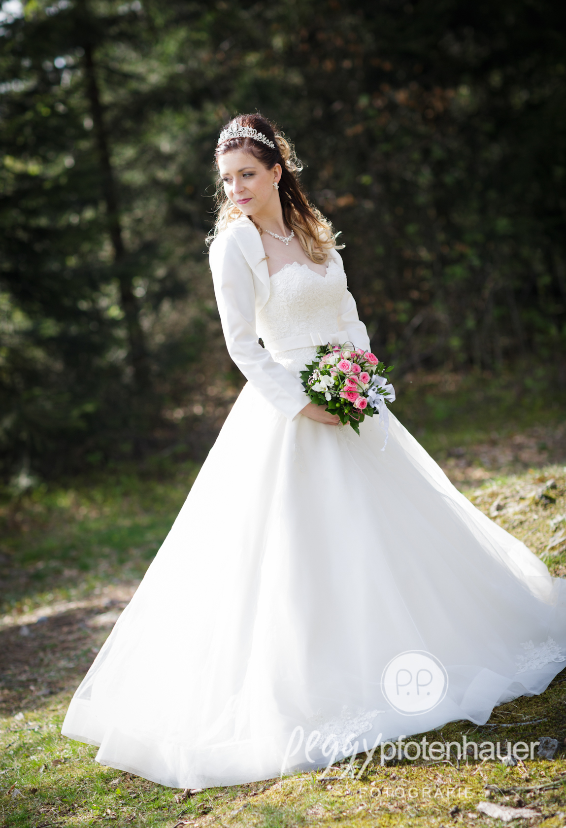 Hochzeitsportraits im Wald Peggy Pfotenhauer Fotografie