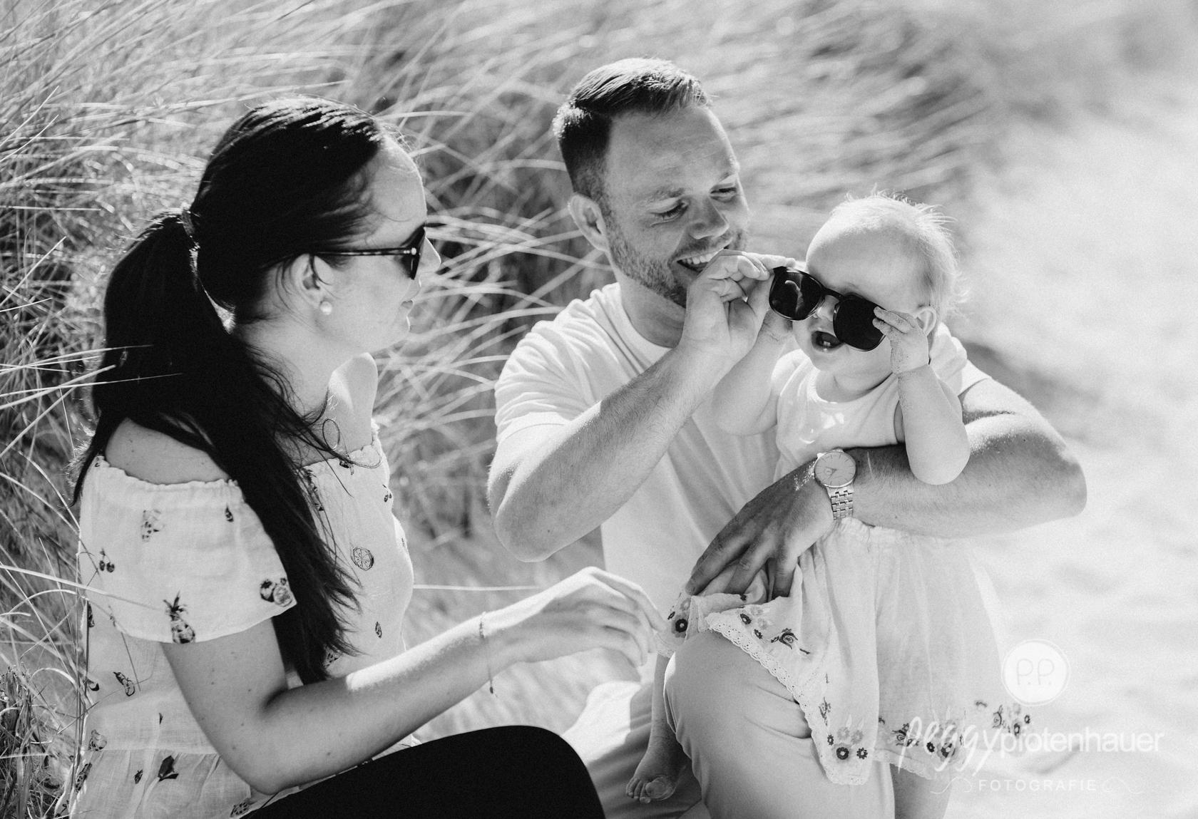 Familienbilder am Strand