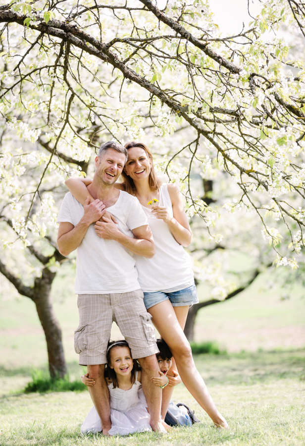 Familienphotos im Frühling