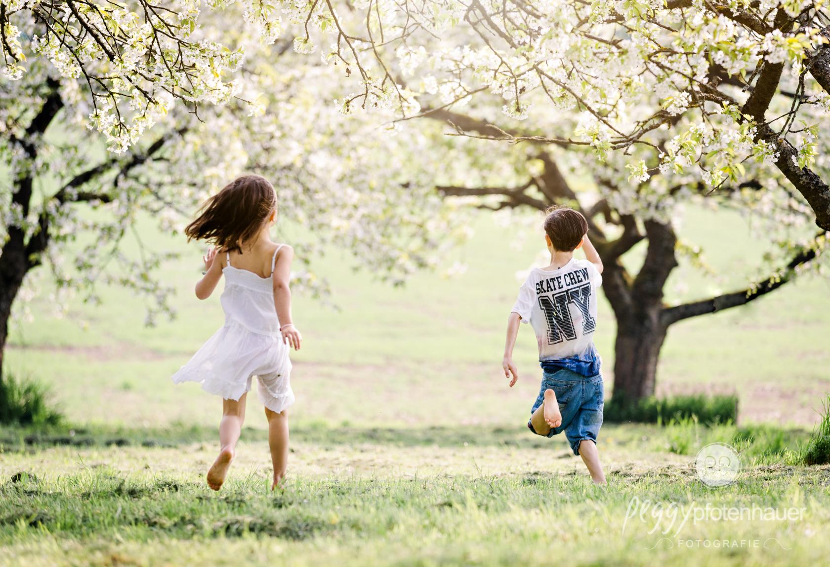 Fotoshooting im Frühling