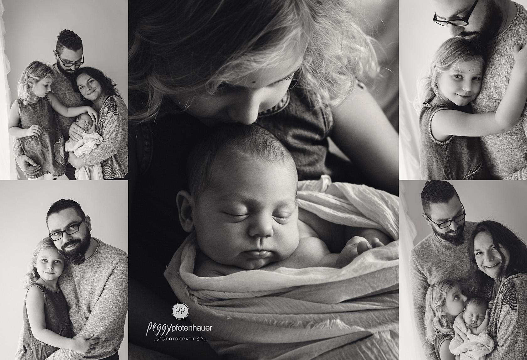 Familienfotos mit Neugeborenem