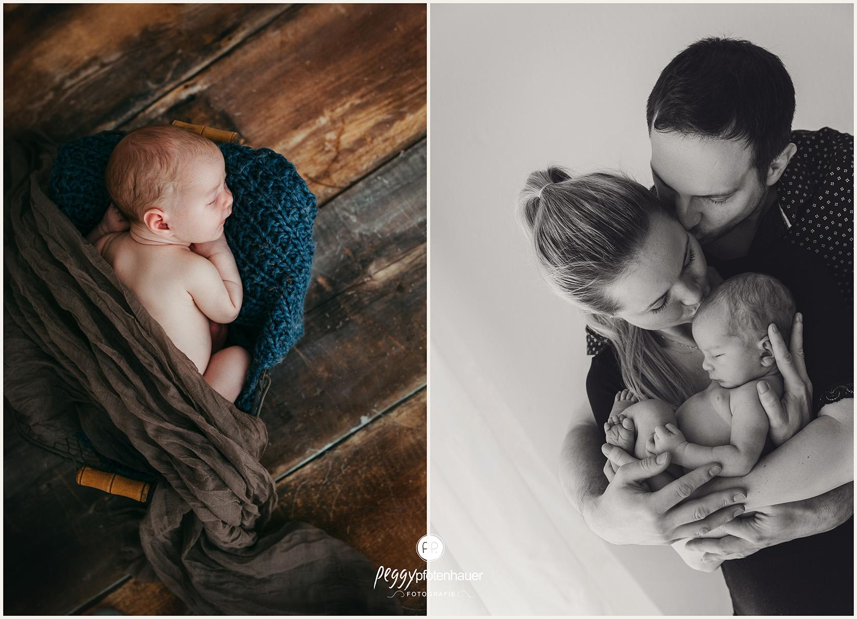 Familienbilder mit Newborn