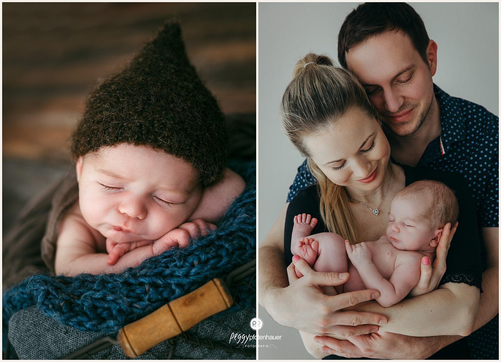 Babyphotos mit Eltern
