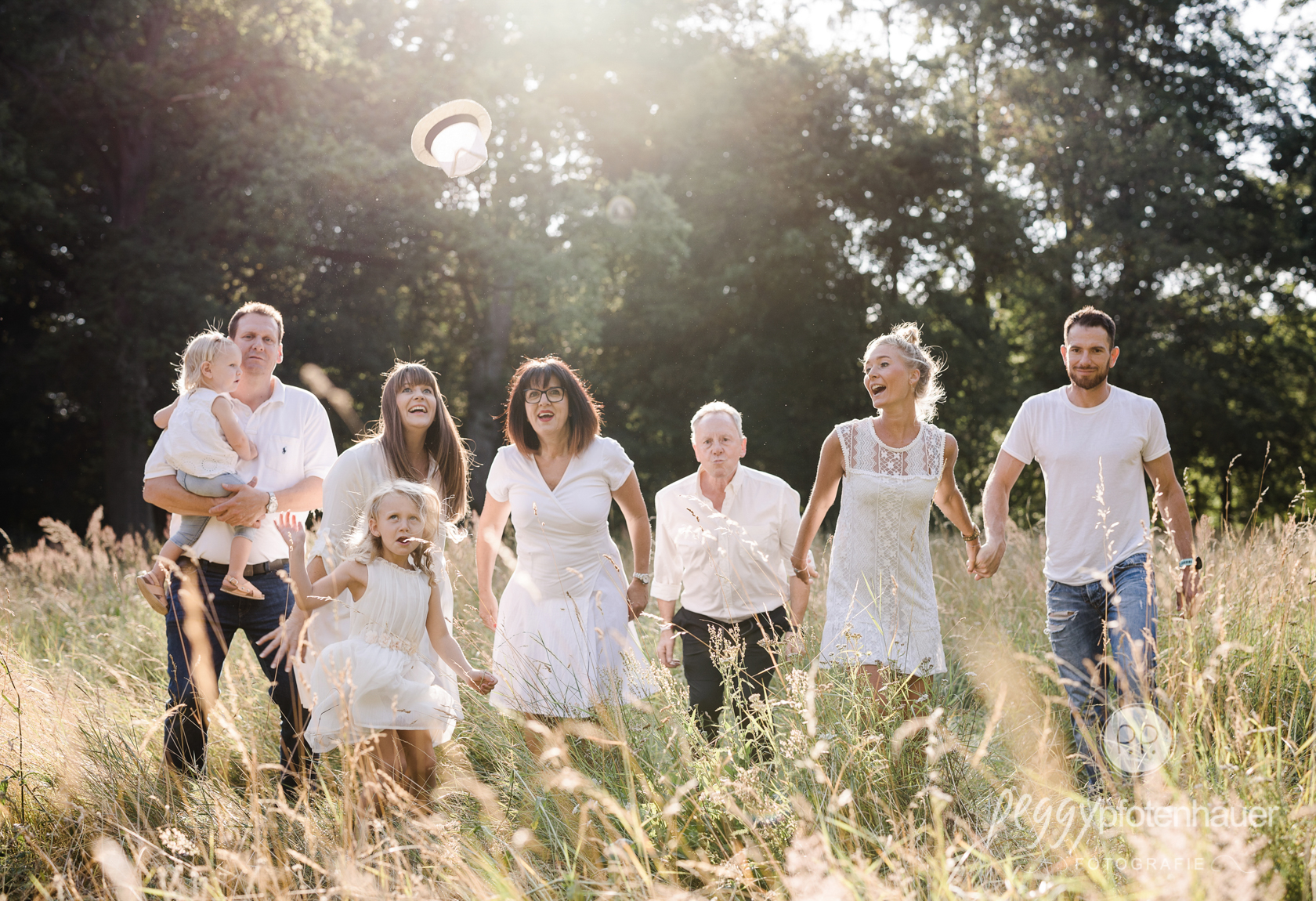 Familienfotos mit Oma und Opa