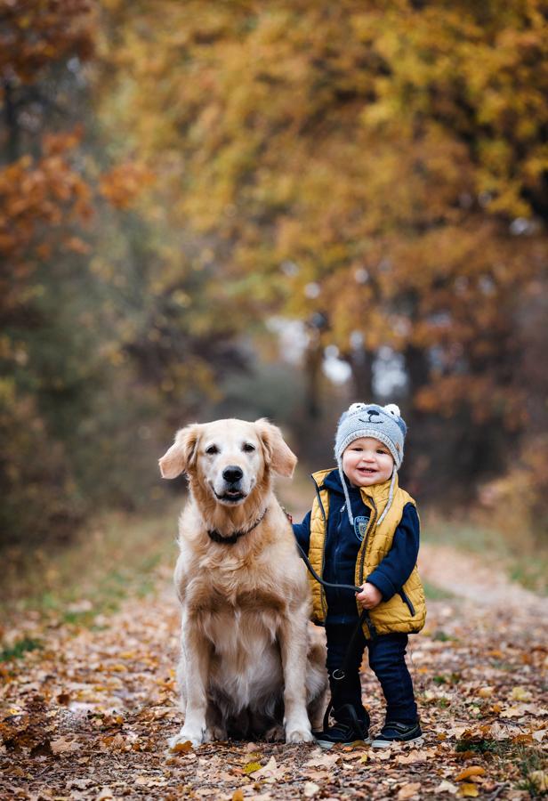 Kinderfotos mit Hund