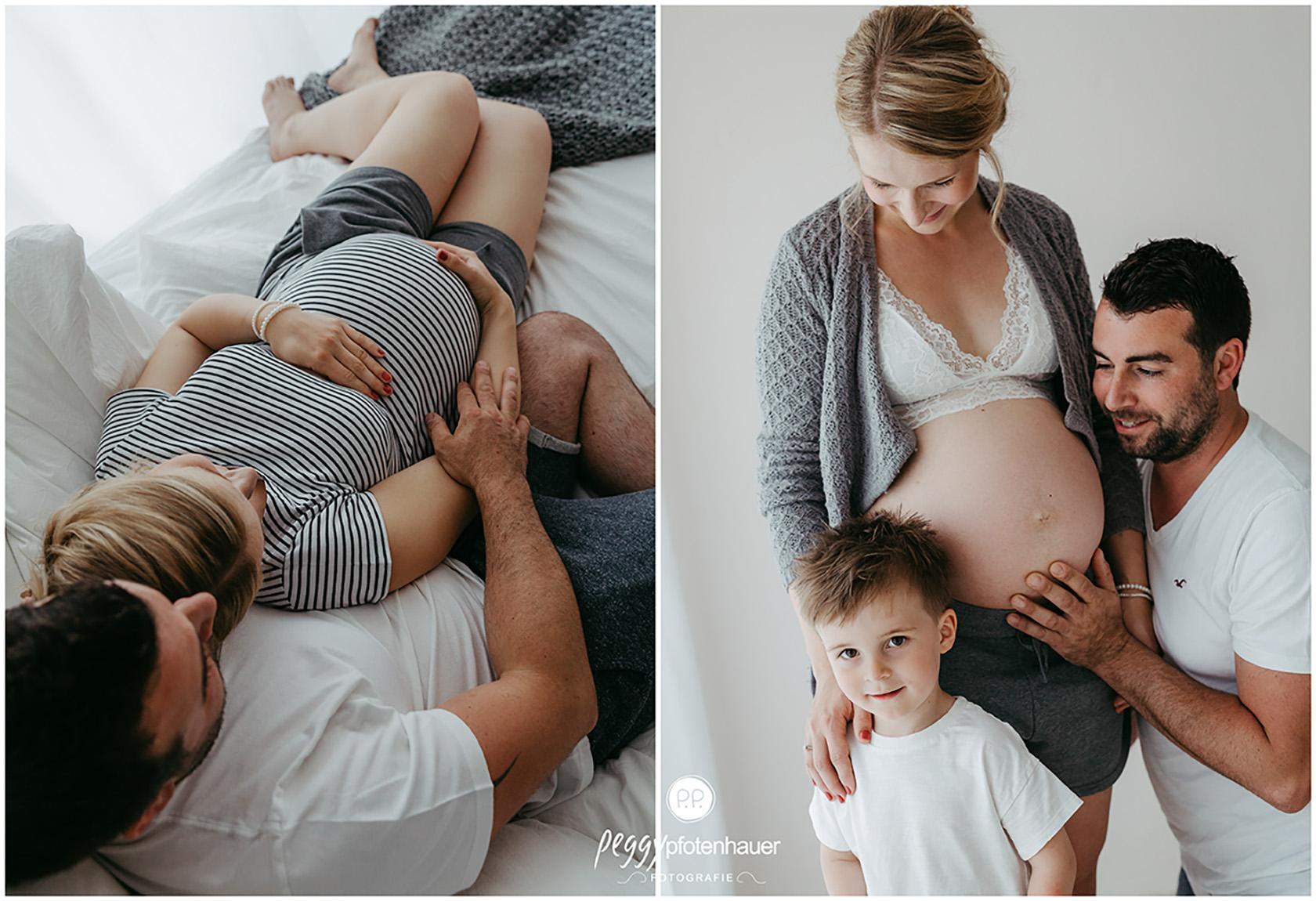 Familienbilder mit Babybauch