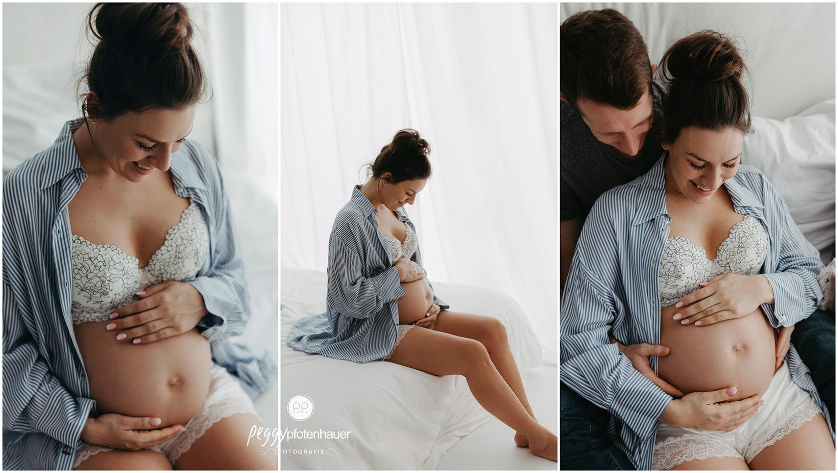 liebevolle Babybauchfotografie