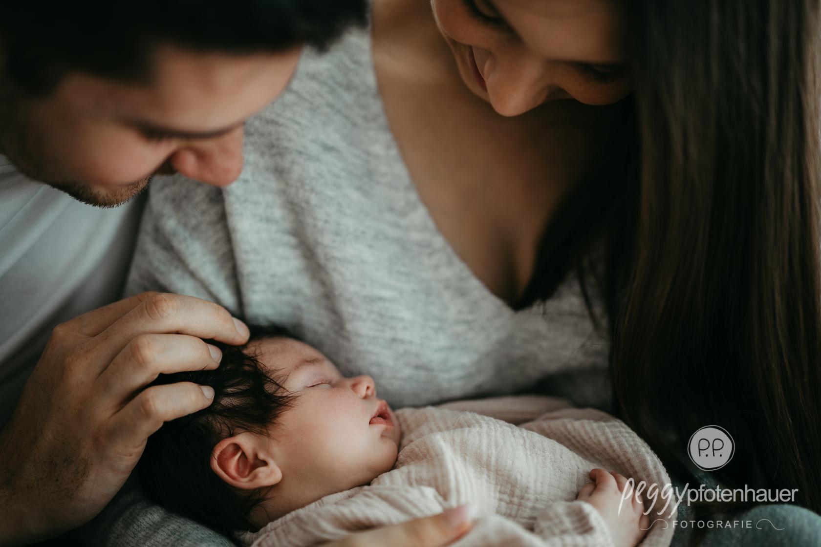 innige Familienbilder