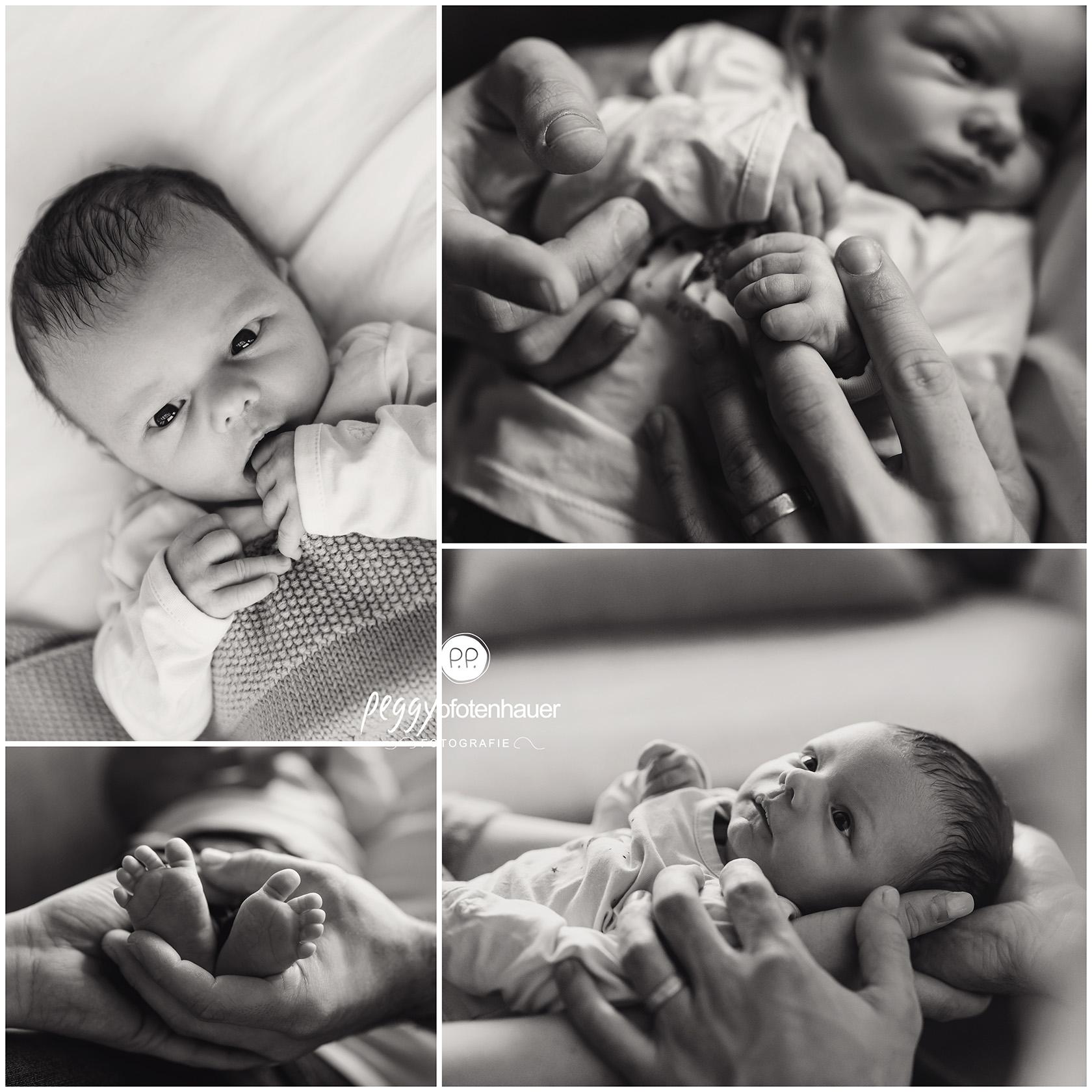 authentische Neugeborenenfotos