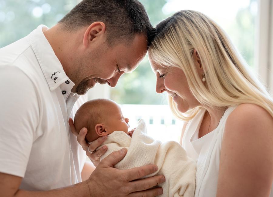 Babyfotografie im eigenen zu Hause