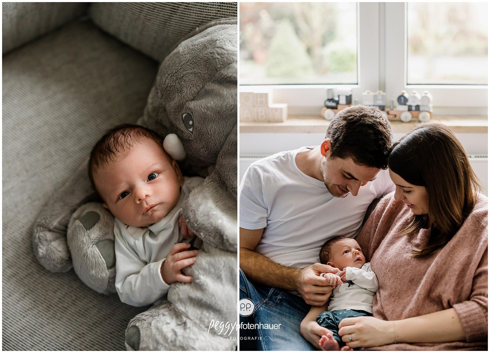 Babybilder zu Hause