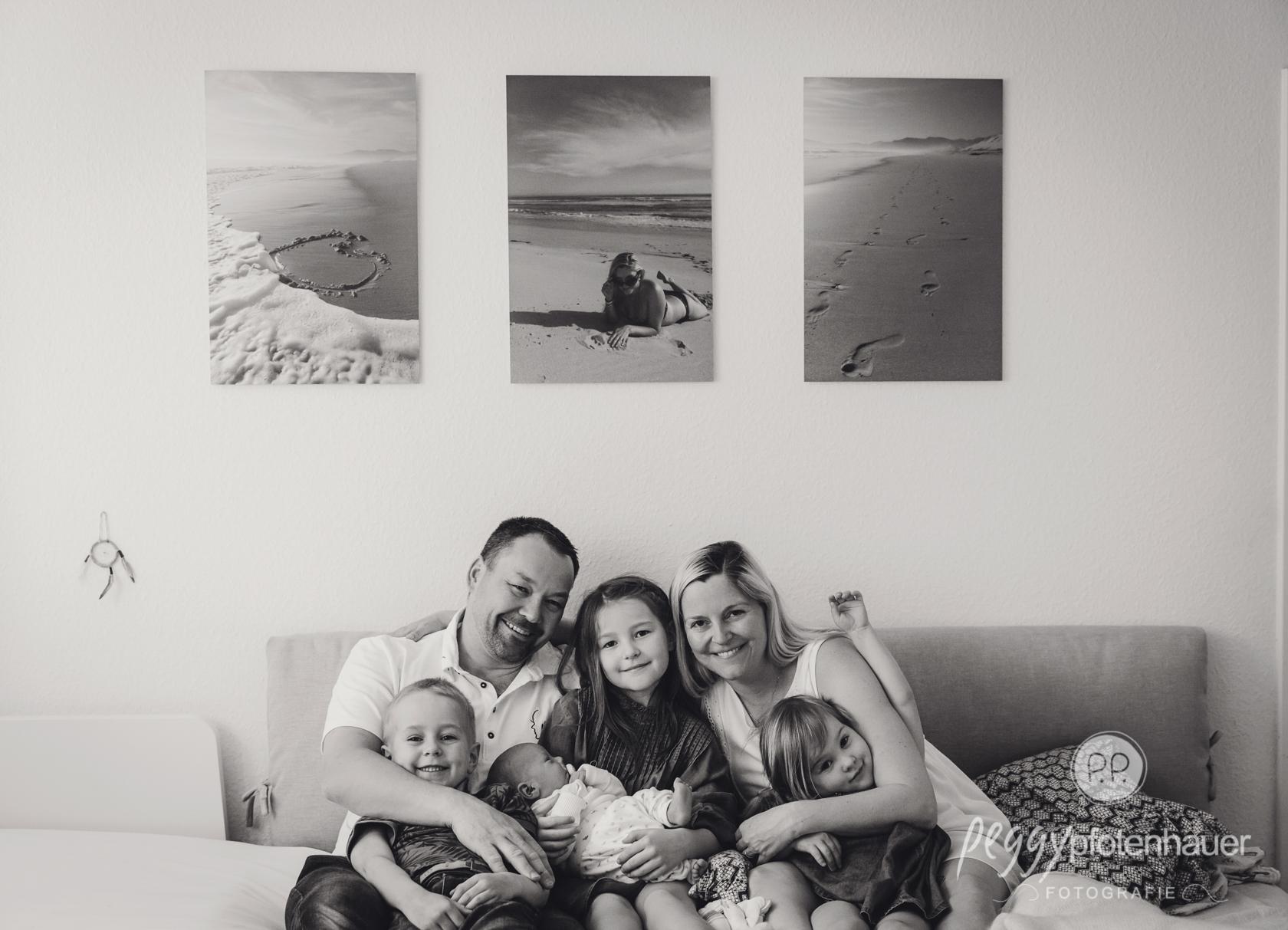 Familienphotos zu Hause
