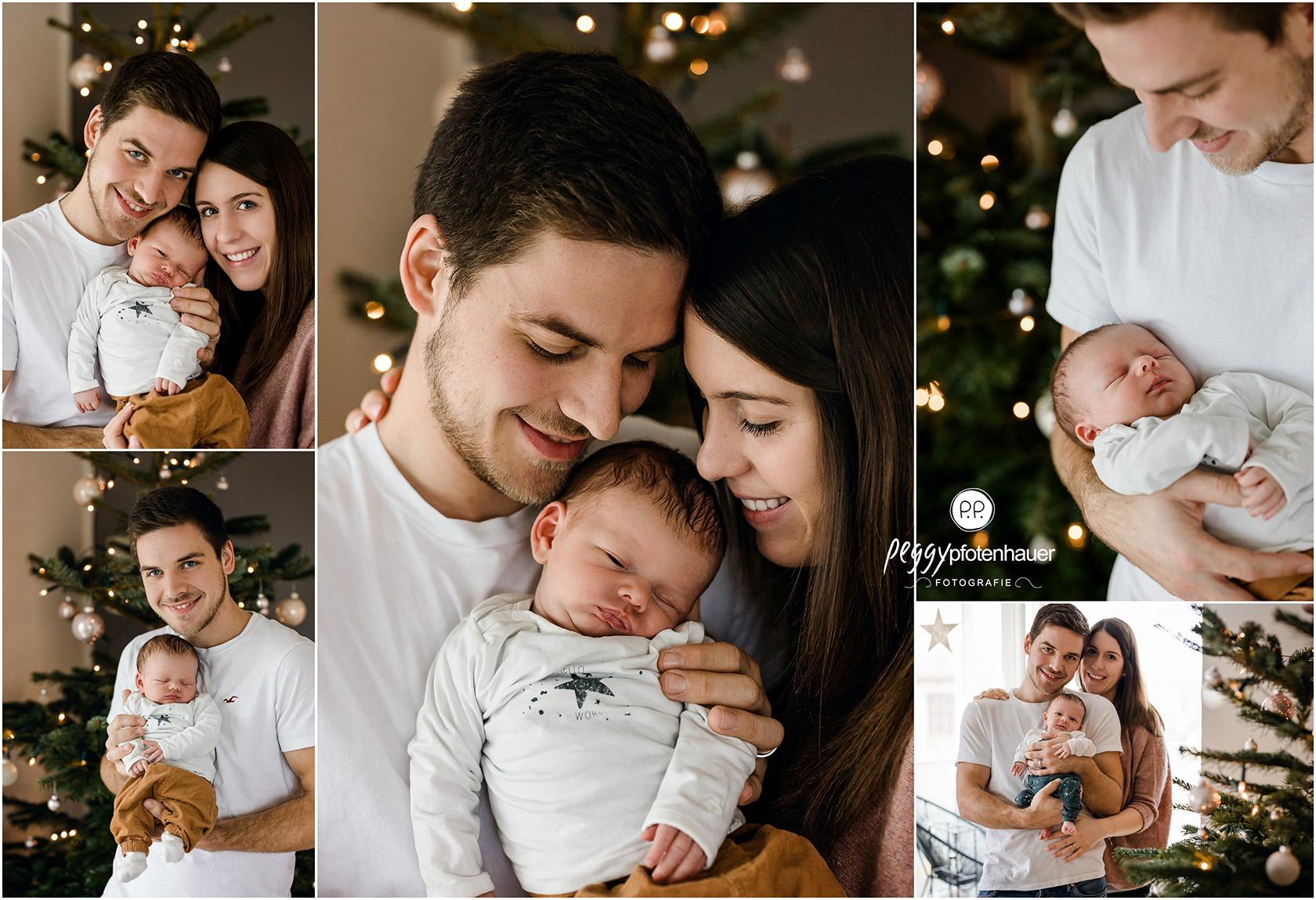 weihnachtliche Familienfotos