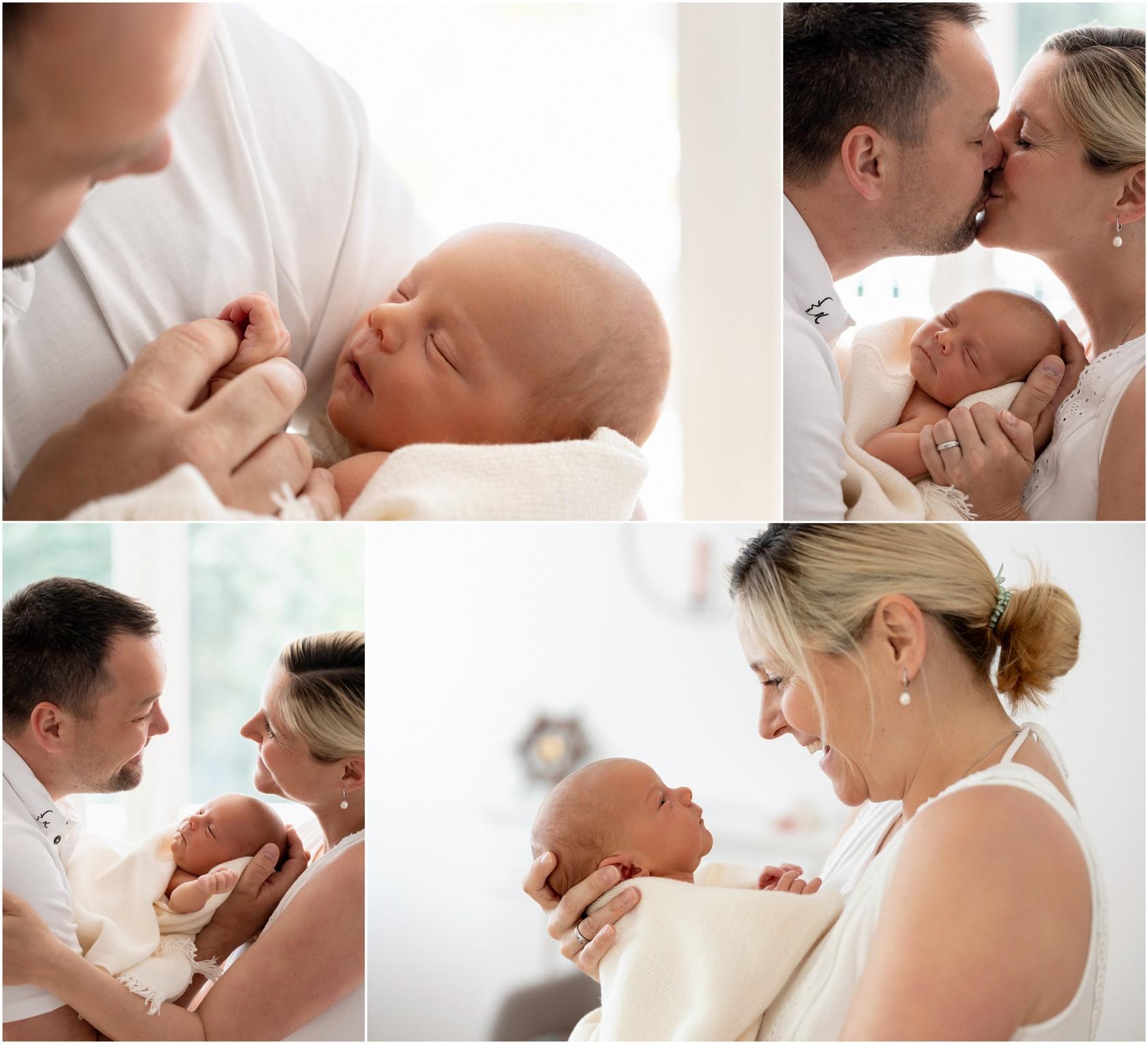 innige Familienbilder mit Baby