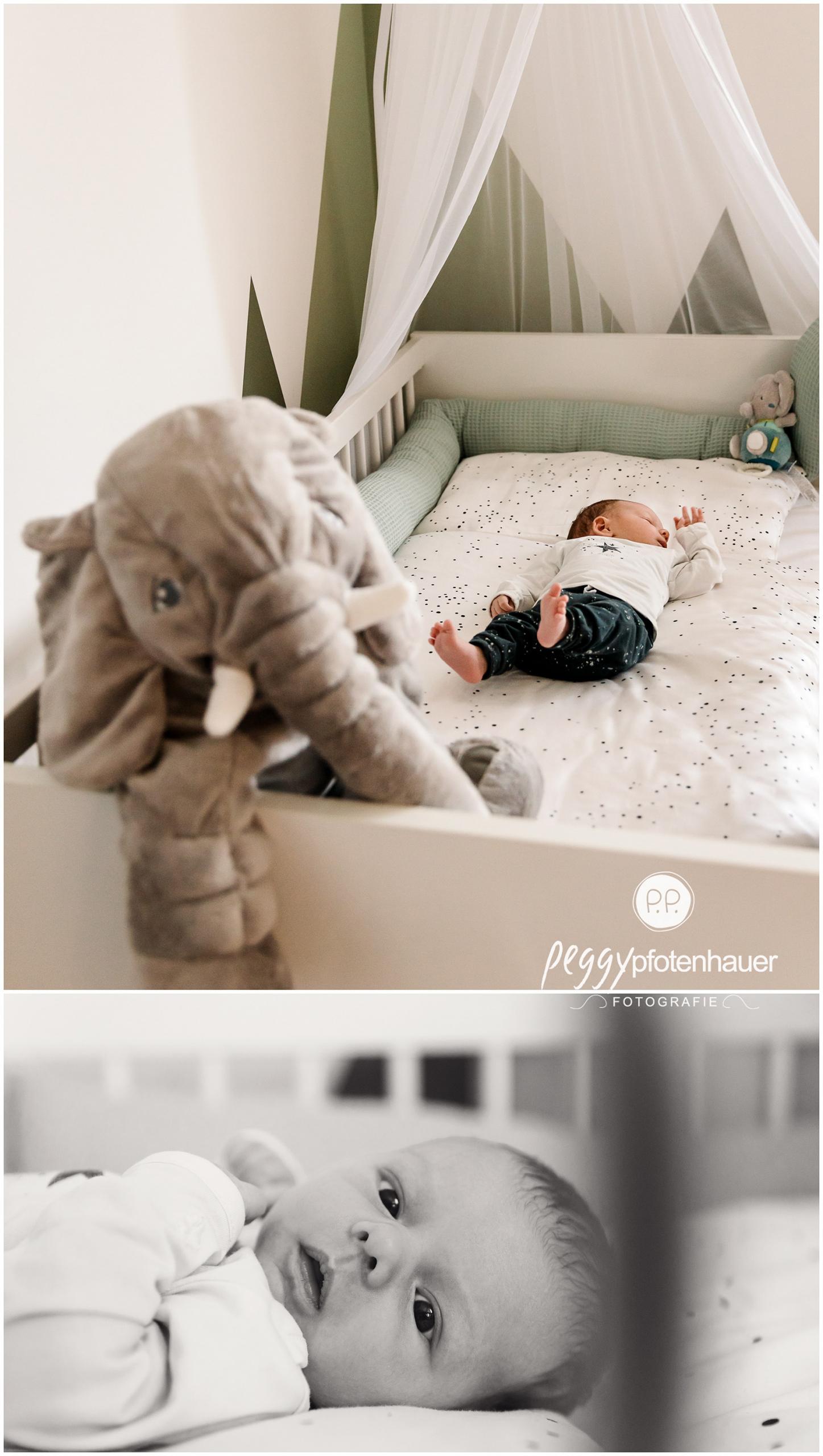 authentische Babyfotos zu Hause