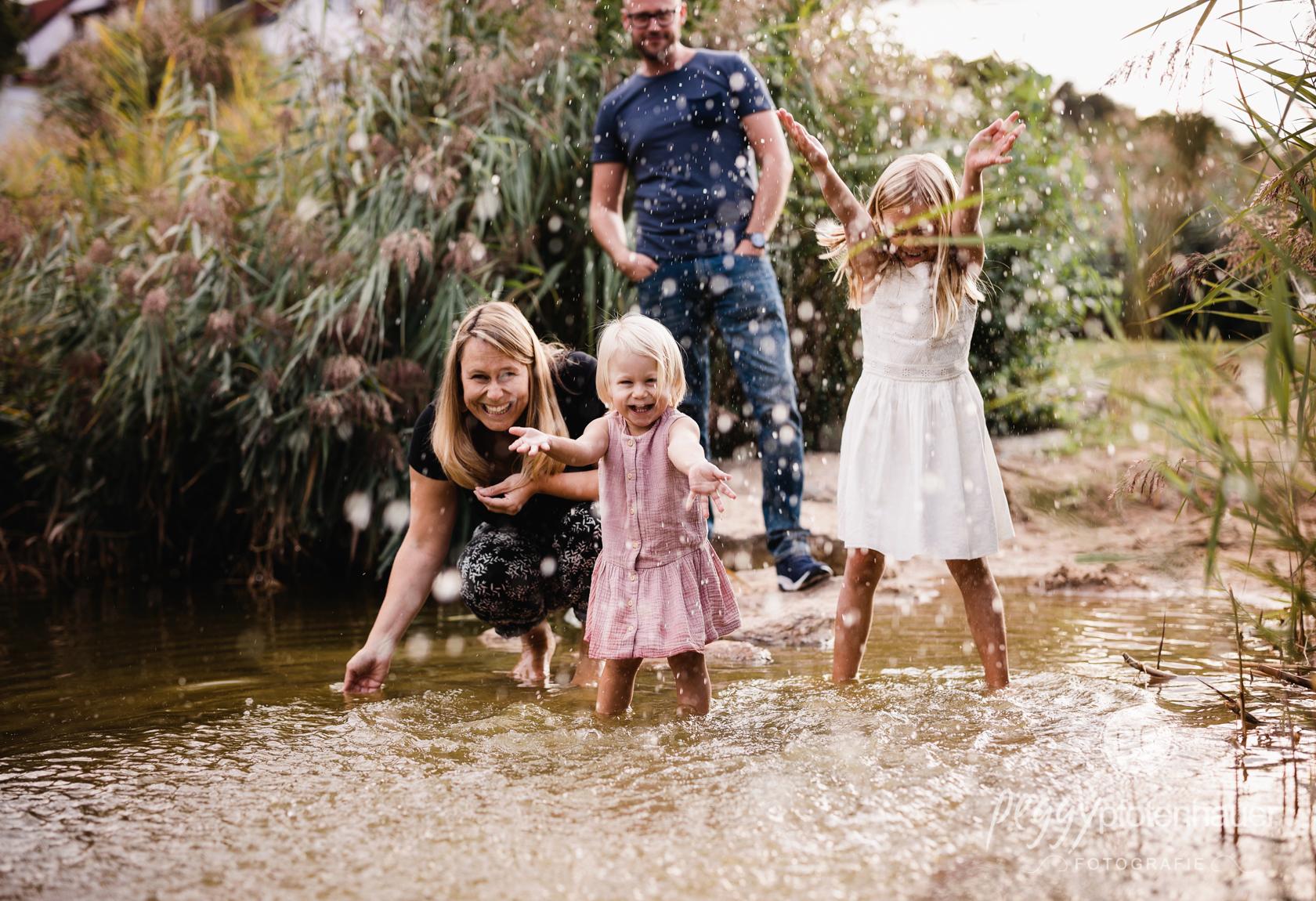 angestellte Familienfotos