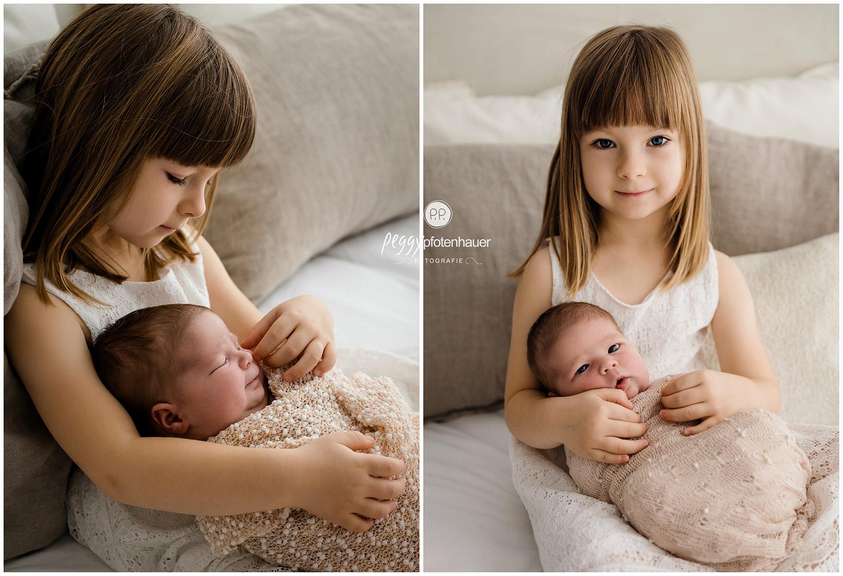 liebevolle Geschwisterbilder