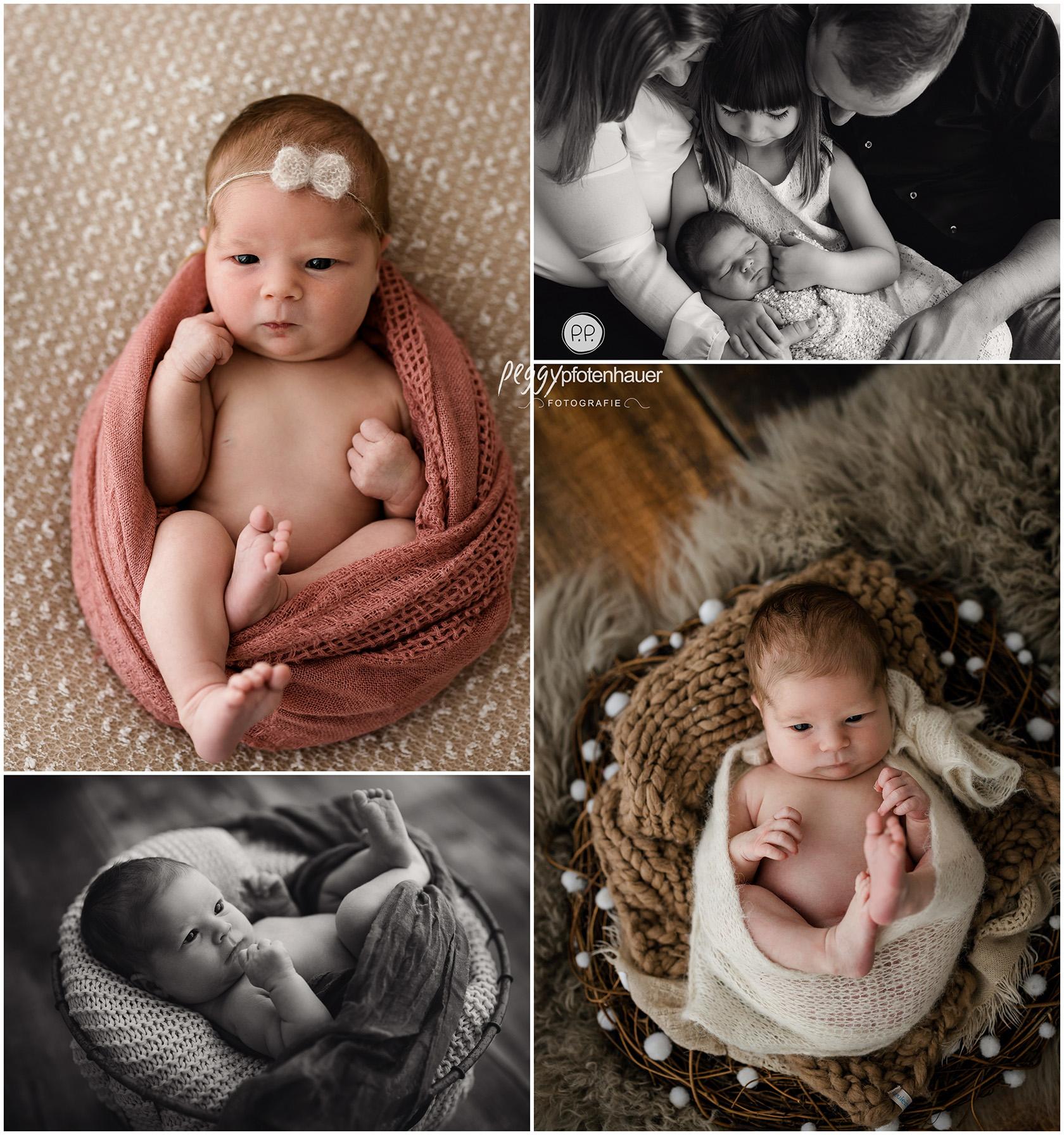 schlichte Babyfotos