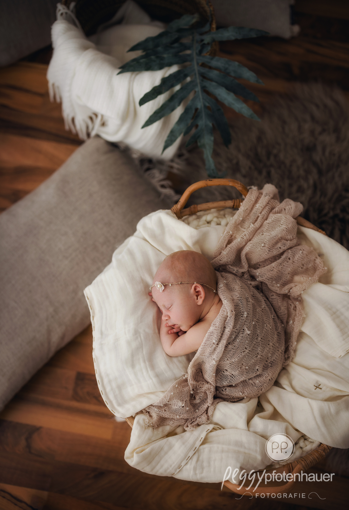 Babyfotos im Bohostil